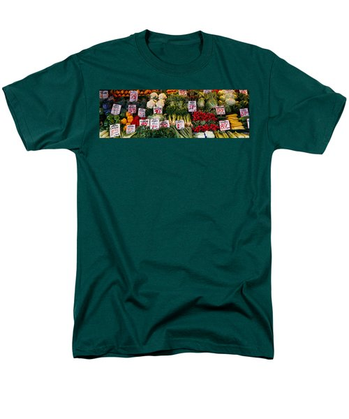 Close-up Of Pike Place Market, Seattle Men's T-Shirt  (Regular Fit) by Panoramic Images