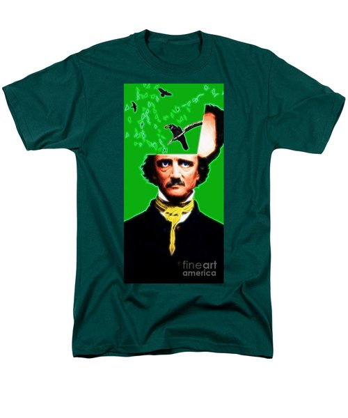 Forevermore - Edgar Allan Poe - Green T-Shirt by Wingsdomain Art and Photography