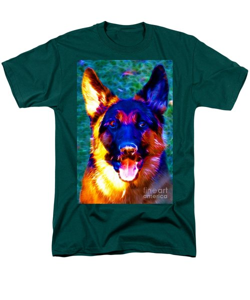 German Shepard - Electric T-Shirt by Wingsdomain Art and Photography