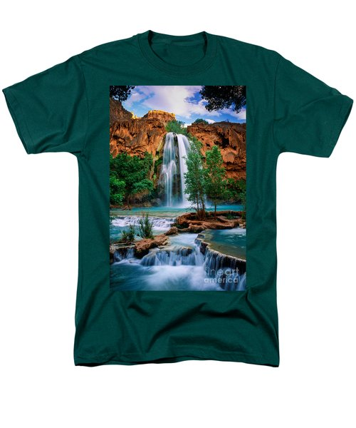 Havasu Cascades Men's T-Shirt  (Regular Fit) by Inge Johnsson
