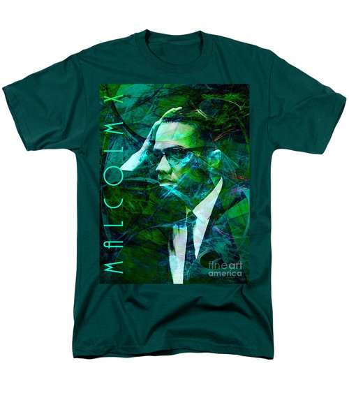 Malcolm X 20140105p138 with text T-Shirt by Wingsdomain Art and Photography