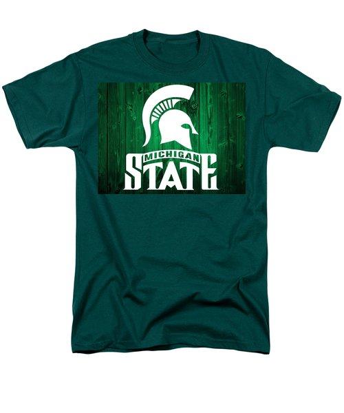 Michigan State Barn Door Men's T-Shirt  (Regular Fit) by Dan Sproul