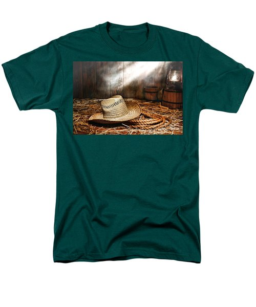 Old Farmer Hat and Rope T-Shirt by Olivier Le Queinec