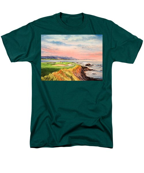 Pebble Beach Golf course Hole 7 T-Shirt by Bill Holkham