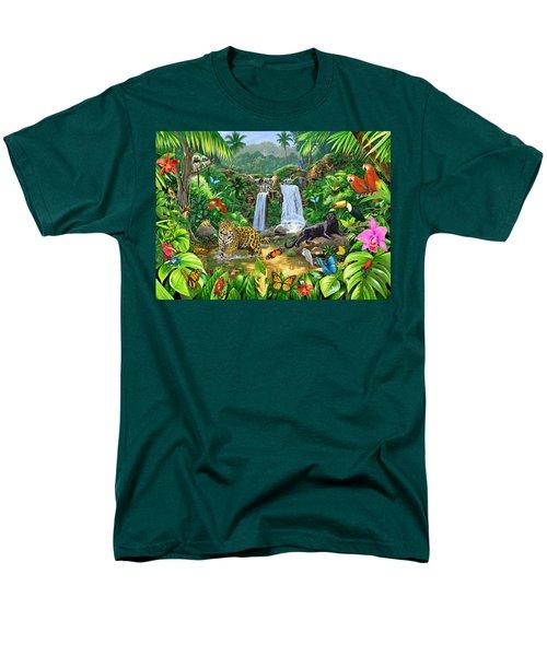 Rainforest Harmony Variant 1 Men's T-Shirt  (Regular Fit) by Chris Heitt