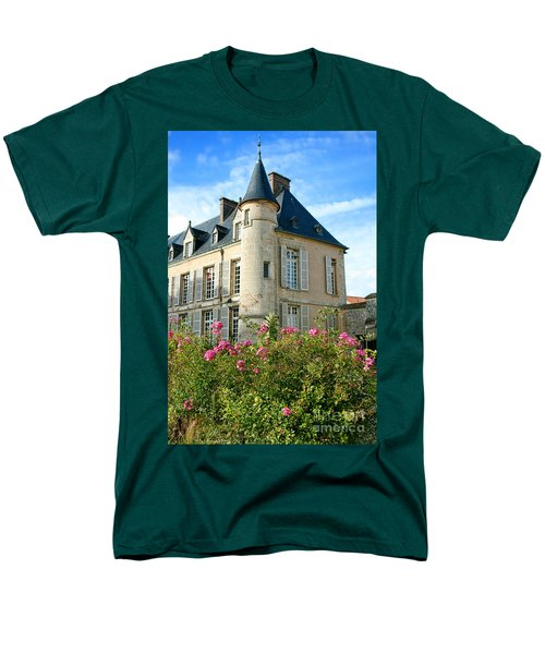 Roses at the Castle T-Shirt by Olivier Le Queinec