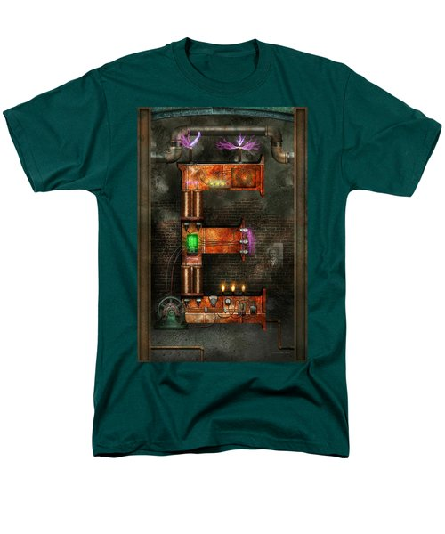 Steampunk - Alphabet - E is for Electricity T-Shirt by Mike Savad