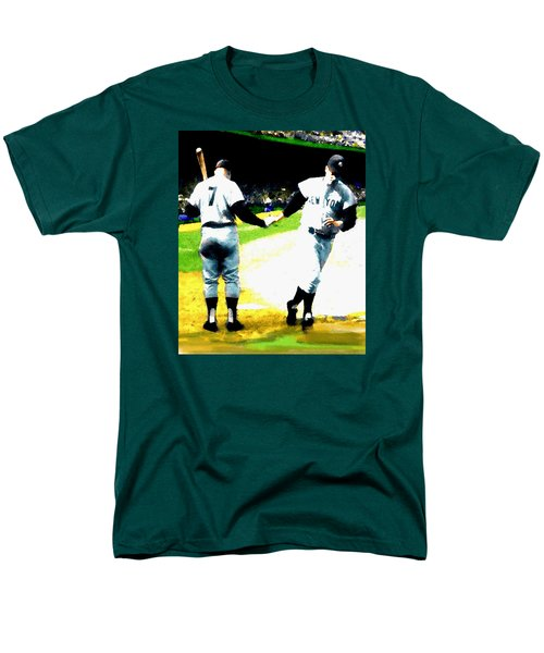 Summer Of The Gods  Iv 1961 Mickey Mantle Men's T-Shirt  (Regular Fit) by Iconic Images Art Gallery David Pucciarelli