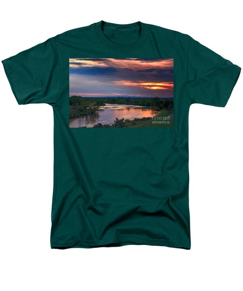 Sunset On The Payette  River T-Shirt by Robert Bales