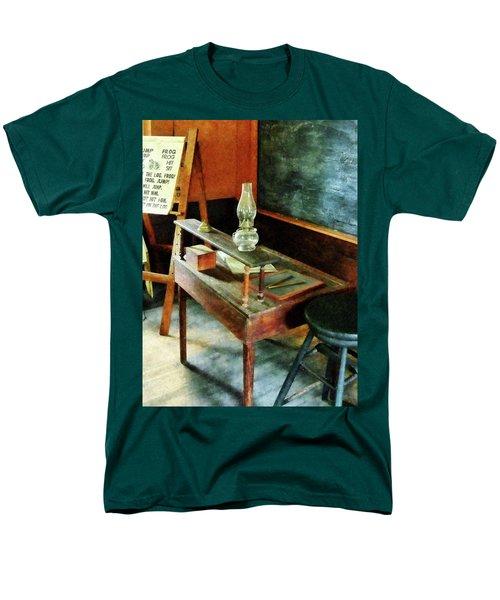Teacher - Teacher's Desk With Hurricane Lamp T-Shirt by Susan Savad