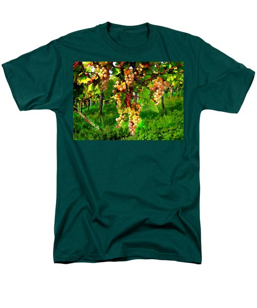 Hanging Grapes on the Vine T-Shirt by Elaine Plesser