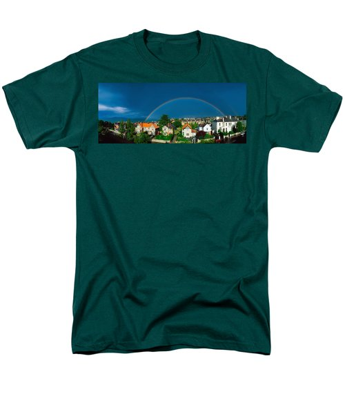 Rainbow Over Housing, Monkstown, Co T-Shirt by The Irish Image Collection