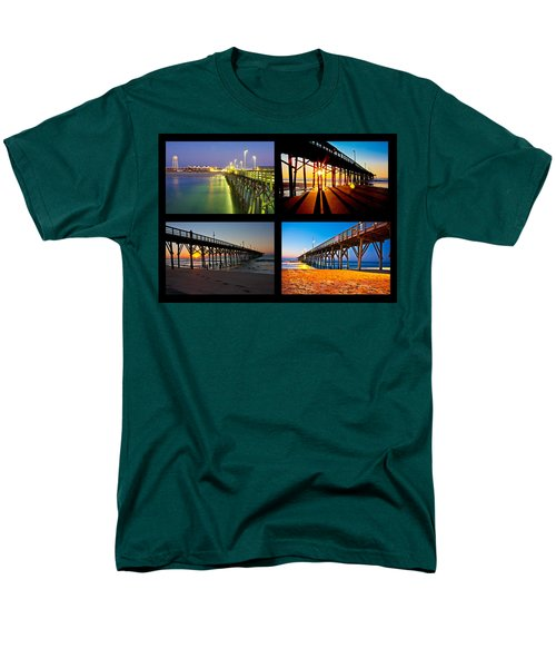 Topsail Piers at Sunrise T-Shirt by Betsy C  Knapp