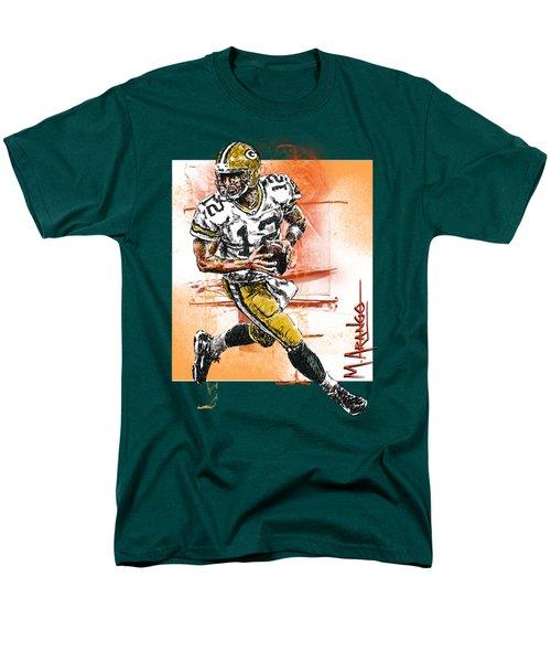 Aaron Rodgers Scrambles T-Shirt by Maria Arango