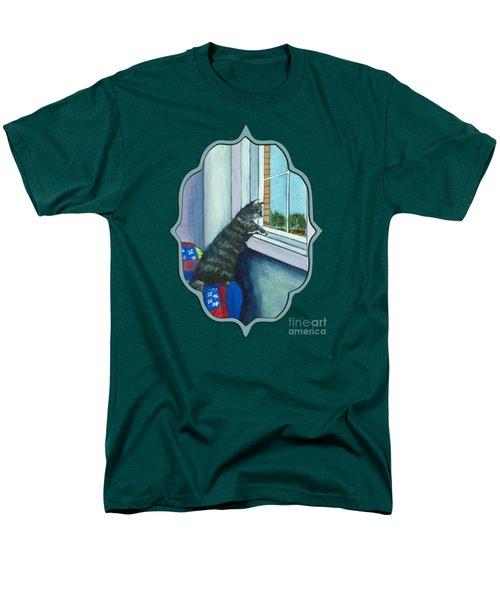Cat By The Window Men's T-Shirt  (Regular Fit) by Anastasiya Malakhova