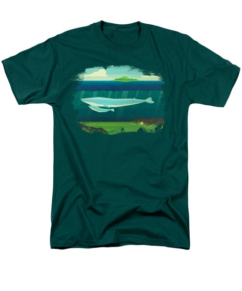 Blue Whale Men's T-Shirt  (Regular Fit) by David Ardil