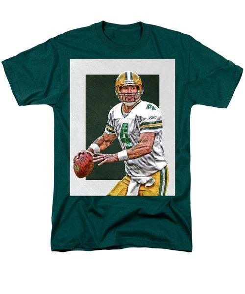 Brett Favre Green Bay Packers Art Men's T-Shirt  (Regular Fit) by Joe Hamilton