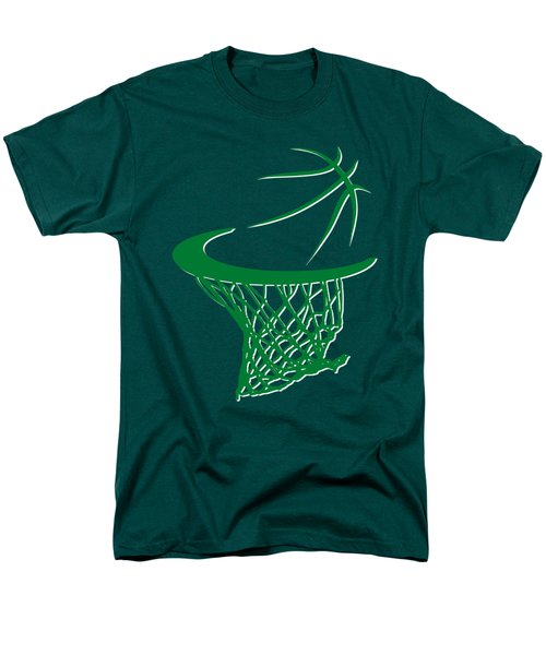Celtics Basketball Hoop Men's T-Shirt  (Regular Fit) by Joe Hamilton