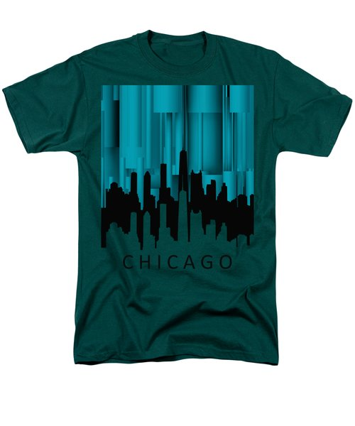 Chicago Turqoise Vertical Men's T-Shirt  (Regular Fit) by Alberto RuiZ
