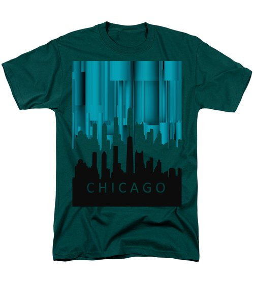 Chicago Turqoise Vertical In Negetive Men's T-Shirt  (Regular Fit) by Alberto RuiZ