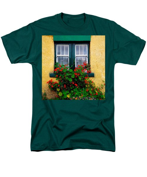 Cottage Window, Co Antrim, Ireland T-Shirt by The Irish Image Collection