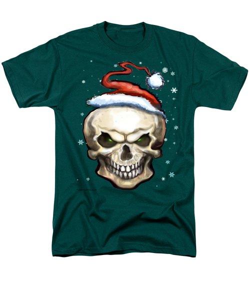 Evil Christmas Skull Men's T-Shirt  (Regular Fit) by Kevin Middleton