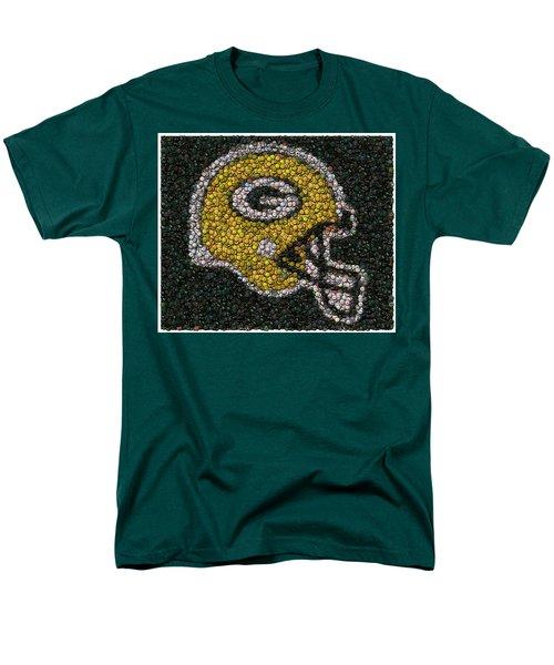 Green Bay Packers Bottle Cap Mosaic T-Shirt by Paul Van Scott