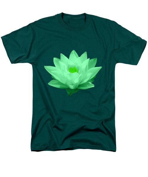 Green Lily Blossom Men's T-Shirt  (Regular Fit) by Shane Bechler