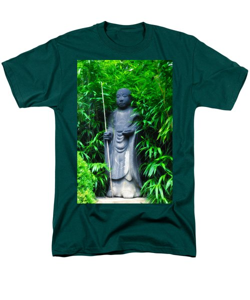 Japanese House Monk Statue T-Shirt by Bill Cannon
