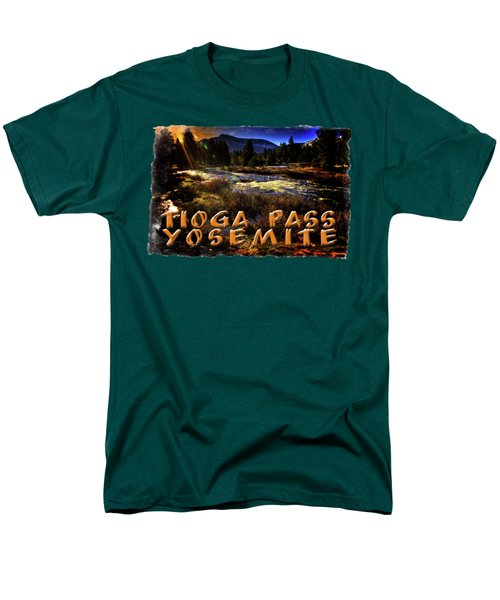 Mine Creek Between Lakes Ellery And Tioga Men's T-Shirt  (Regular Fit) by Roger Passman
