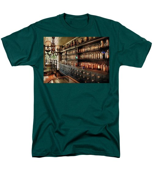 Pharmacy - So many drawers and bottles T-Shirt by Mike Savad
