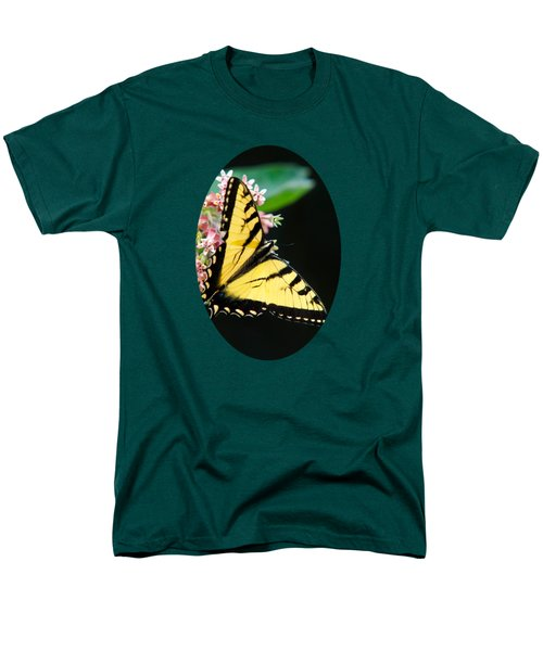 Swallowtail Butterfly And Milkweed Flowers Men's T-Shirt  (Regular Fit) by Christina Rollo