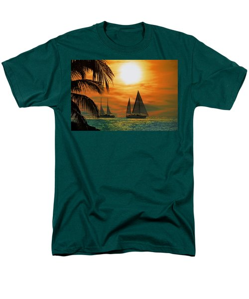 Two Ships Passing in the Night T-Shirt by Bill Cannon