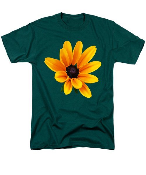 Yellow Flower Black-eyed Susan Men's T-Shirt  (Regular Fit) by Christina Rollo