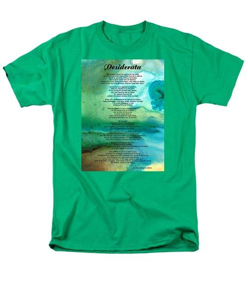 Desiderata 2 - Words of Wisdom T-Shirt by Sharon Cummings