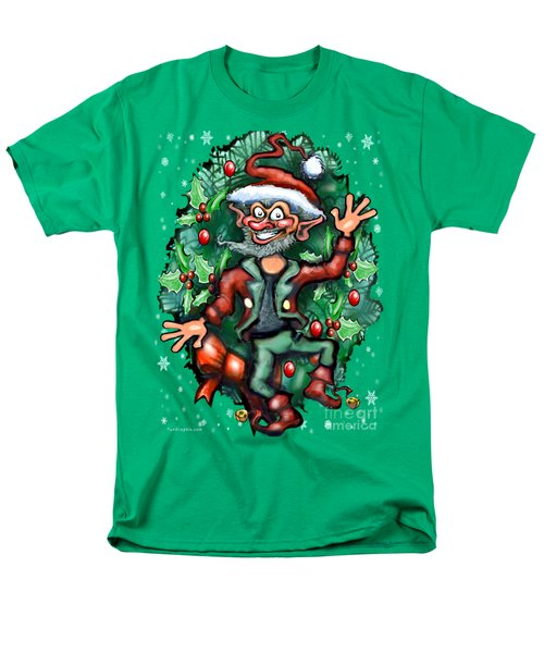 Christmas Elf Men's T-Shirt  (Regular Fit) by Kevin Middleton