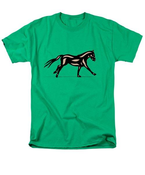 Clementine - Pop Art Horse - Black, Hazelnut, Emerald Men's T-Shirt  (Regular Fit) by Manuel Sueess