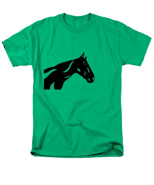 Crimson - Abstract Horse Men's T-Shirt  (Regular Fit) by Manuel Sueess