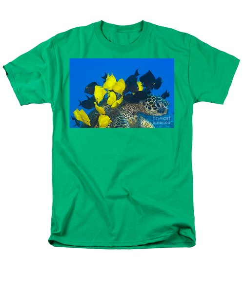 Fish cleaning turtle T-Shirt by Dave Fleetham - Printscapes