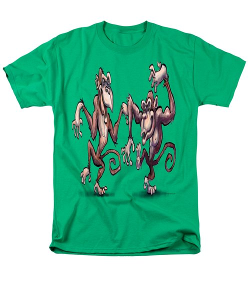 Monkey Dance Men's T-Shirt  (Regular Fit) by Kevin Middleton