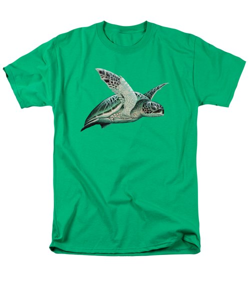 Moonlit Green Sea Turtle Men's T-Shirt  (Regular Fit) by Amber Marine