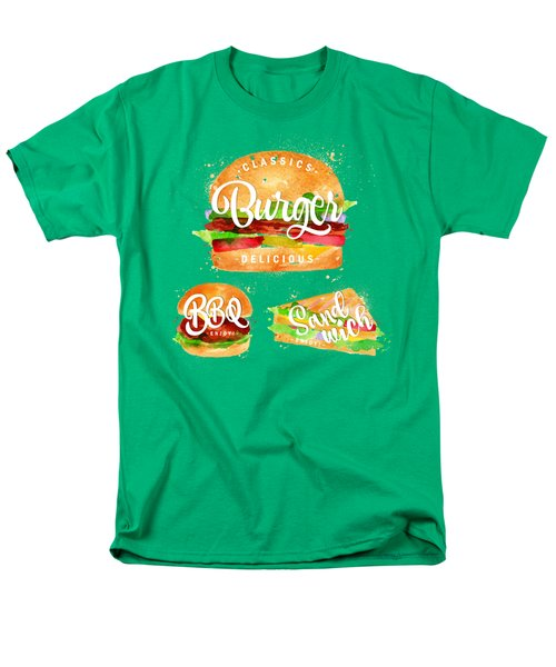 Vintage Burger Men's T-Shirt  (Regular Fit) by Aloke Design