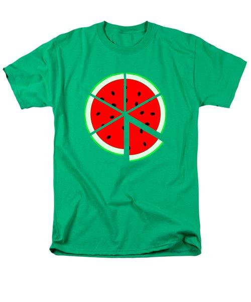 Watermelon Wedge Men's T-Shirt  (Regular Fit) by Susan Eileen Evans