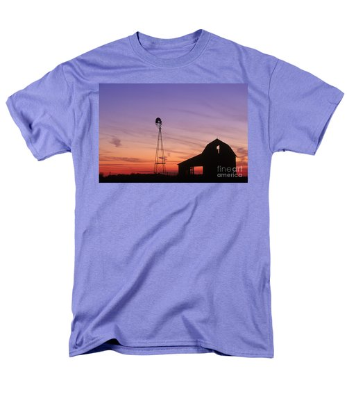 Farm at Sunset T-Shirt by David Davis and Photo Researchers