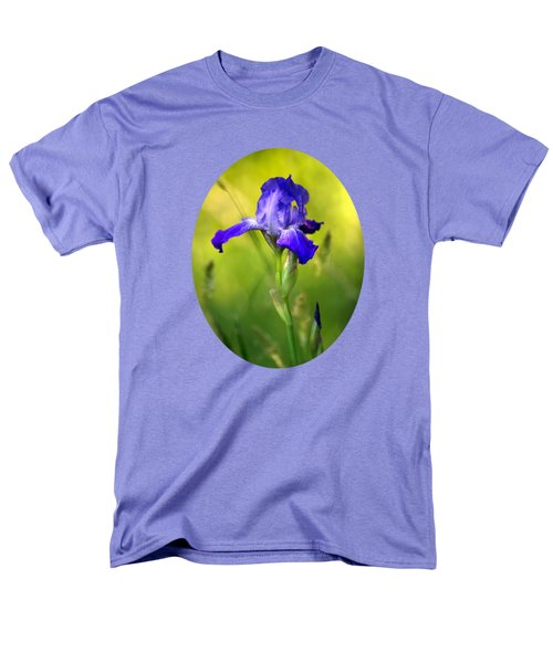 Violet Iris Men's T-Shirt  (Regular Fit) by Christina Rollo