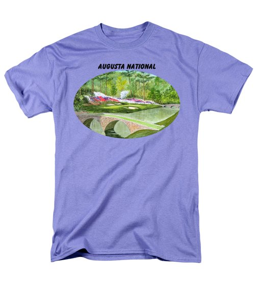 Augusta National Golf Course With Banner Men's T-Shirt  (Regular Fit) by Bill Holkham