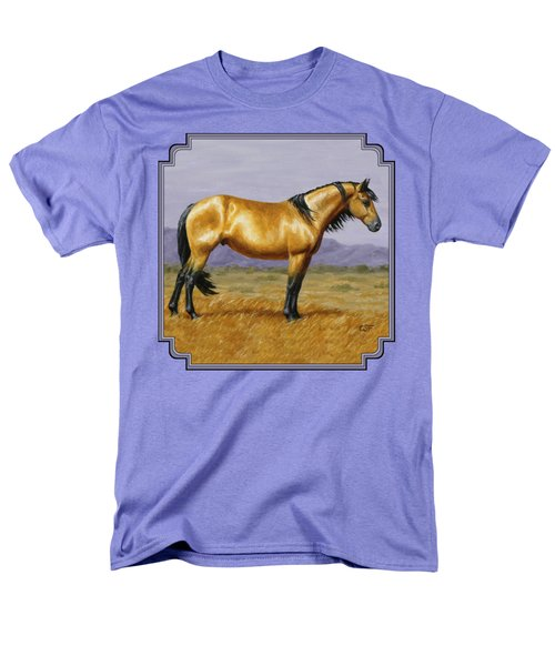 Buckskin Mustang Stallion Men's T-Shirt  (Regular Fit) by Crista Forest