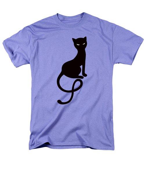 Purple Gracious Evil Black Cat Men's T-Shirt  (Regular Fit) by Boriana Giormova