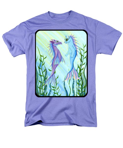 Sunrise Swim - Sea Dragon Mermaid Cat Men's T-Shirt  (Regular Fit) by Carrie Hawks