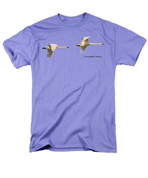 Trumpeter Swans In Flight Men's T-Shirt  (Regular Fit) by Whispering Peaks Photography